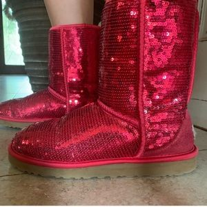 Red Sparkly UGGs!